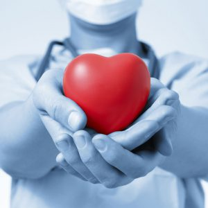 Doctor holding a heart